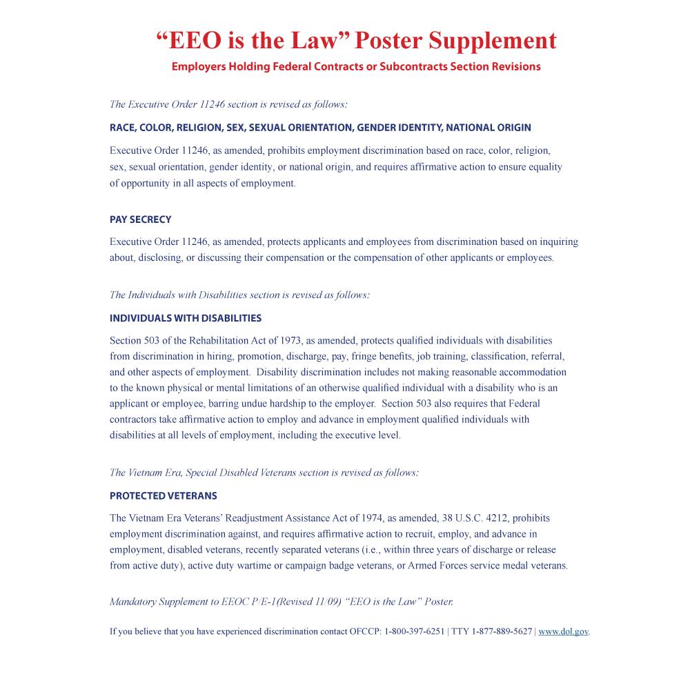 EEO-Supplement